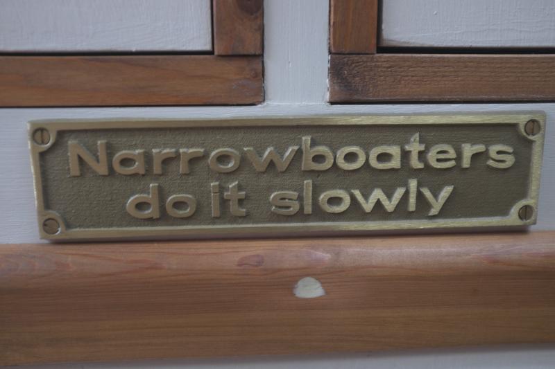 Narrowboaters do it slowly