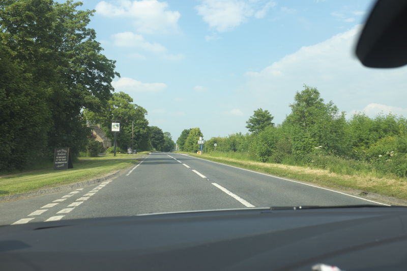Driving in Cotswolds