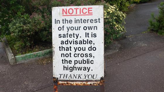 Thatch cottage restarurant notice