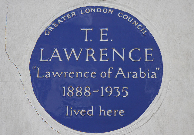Blue Plaque Lawrence of Arabia