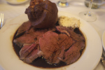 ロンドンのグルメ 本場ローストビーフの高級レストラン Simpson's in the Strand  シンプソンイン・ザ・ストランドでディナー