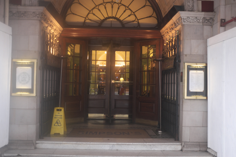 Sipson's in the Strand Entrance